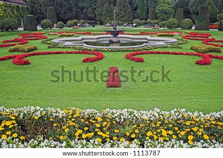 Vienna Schonbrunn Garden, Austria - stock photo