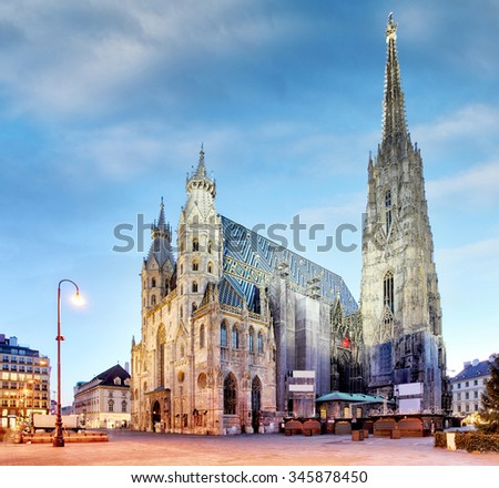 Vienna, St. Stephan Cathedral, Austria, nobody - stock photo