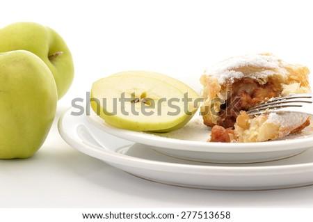 Viennese apple strudel - stock photo