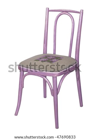 Viennese chair isolated on white background - stock photo
