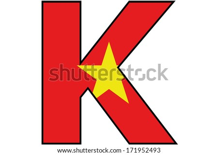 Vietnam Alphabet Illustration K Stock Illustration 171952493