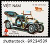 VIETNAM - CIRCA 1984: A stamp printed by VIETNAM shows old car, series, circa 1984 - stock photo