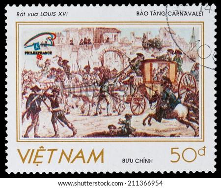 VIETNAM - CIRCA 1989: A stamp printed in Vietnam shows French Revolution, circa 1989 - stock photo