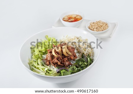 Vietnam dishes - Barbecue Noodles