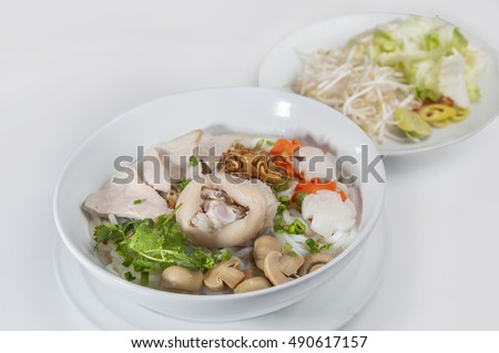 Vietnam dishes - Pork noodles