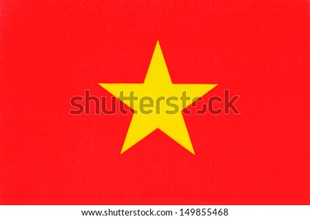 vietnam flag - stock photo
