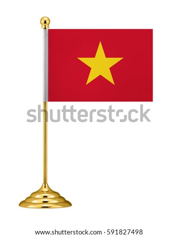 Vietnam flag. Desk flag.