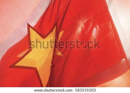 vietnam flag red flag yellow star stock photo 583559203 - shutterstock