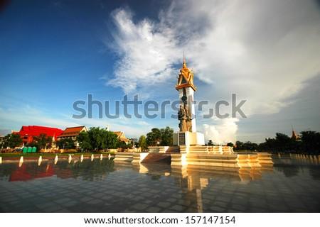 Vietnam Friendship Monument, Phnom Penh Cambodia - stock photo
