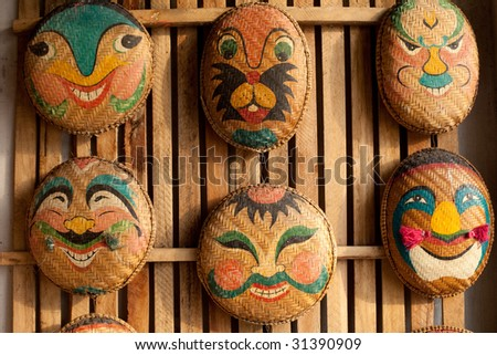 Vietnam Straw Art Famous Souvenirs - stock photo