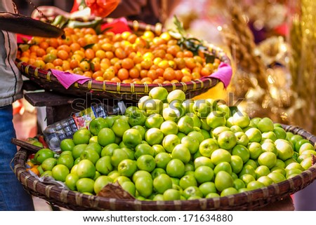 Vietnam street market - stock photo