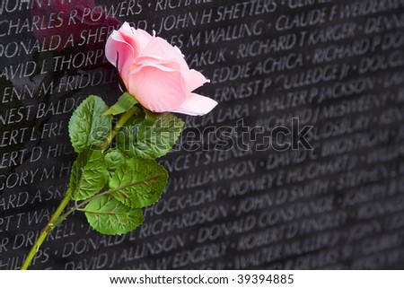 Vietnam War Memorial Wall - stock photo