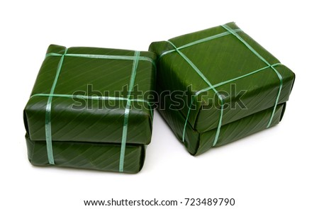 Vietnamese Chung Cake isolated on white background