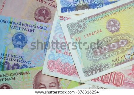 Vietnamese money background (Dong Currency)