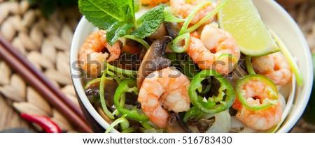 Vietnamese  noodle prawn