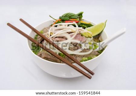 Vietnamese Pho Bowl  - stock photo