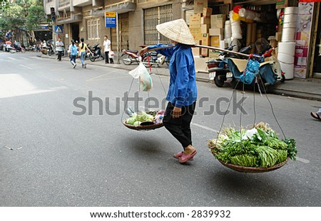 Vietnamese street life - stock photo