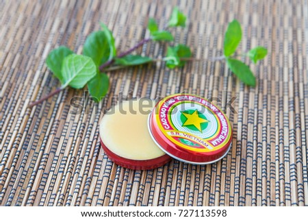 "Vietnamese traditional golden star balm ""Cao Sao Vang"""