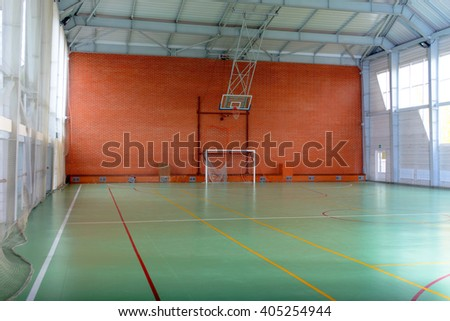 Indoor sports stock images royalty free images vectors for Free inside basketball courts