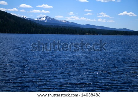 View across Payette lake near north shore, McCall Idaho
