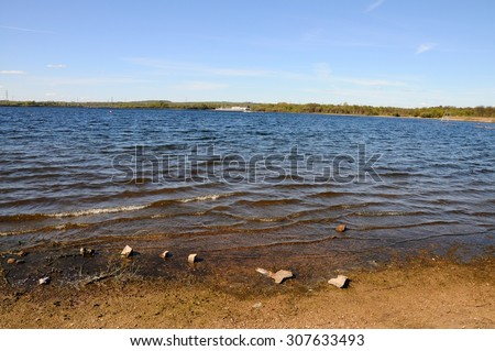 View across the lake at Chasewater, Brownhills, West Midlands, England, UK, Western Europe.