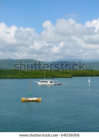 View along the coast of Port Douglas - Queensland, Australia - stock photo