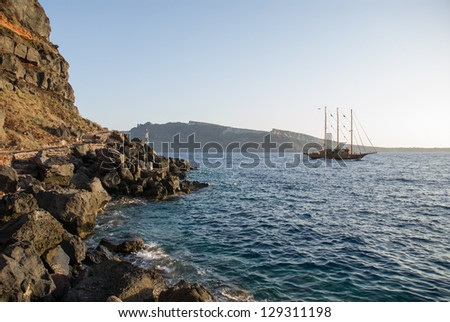 View and detail of one of most beautiful and native islands of Greece - stock photo