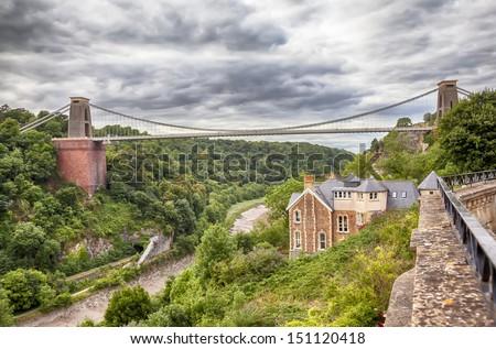 view at Bristol bridge  - stock photo