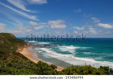 View at coast by Great Ocean Road, Australia
