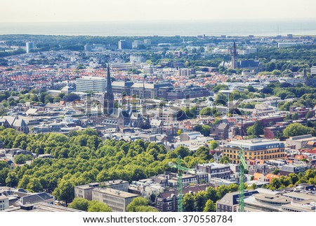 view at historical center the Hague city  - stock photo