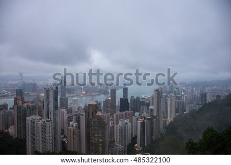 View at Hong Kong from Victoria Peak
