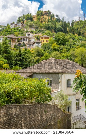 View at houses in Gjirokaster - Albania