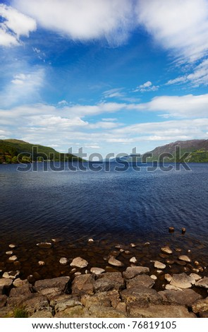 View at like Loch Ness, Highland, Scotland