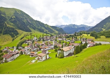View at little village Berwang in Tirol, Austria