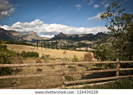 View at Mount Turbon, spainish Pyrenees - stock photo