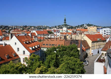 View at old city center of Bratislava - stock photo