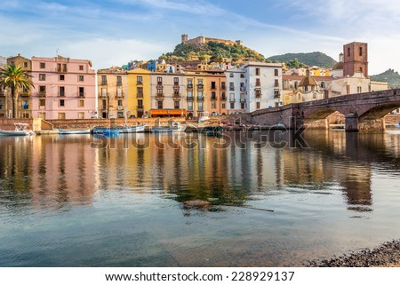 View at the Bosa in Sardinia - Italy