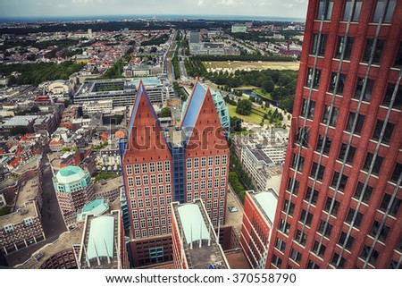view at the Hague city from above
