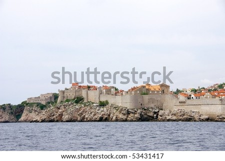 View at the old city Dubrovnik in Croatia
