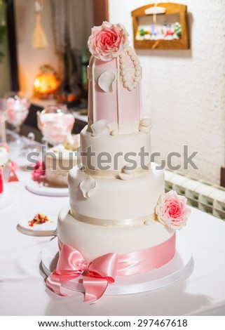 View at the wedding cake