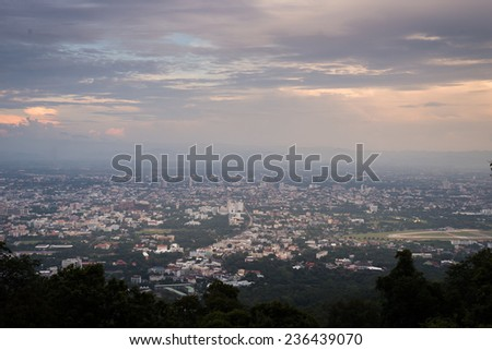 view cityscape of chiang mai , thailand