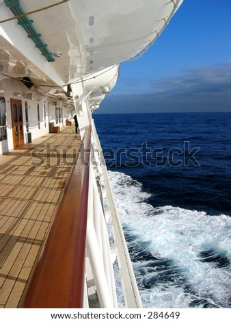 View from a cruise ship... - stock photo