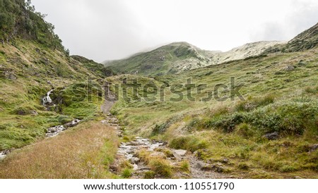 View from a mountain outside Bergen in Norway - stock photo