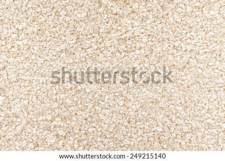 View from above of dry oatmeal. - stock photo