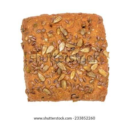 view from above on the square bread - stock photo
