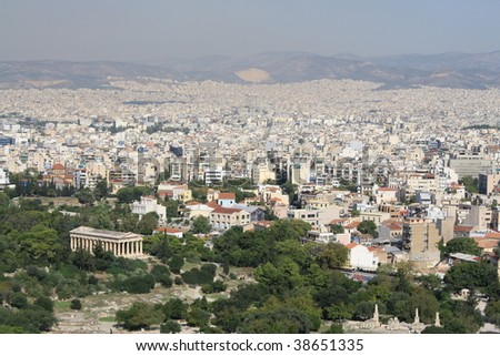 View from Acropolis, Athens Greece