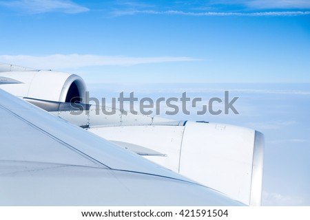 view from airplane - stock photo