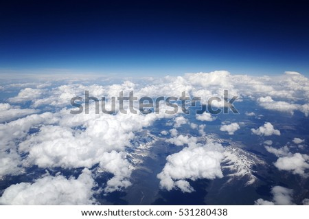 plane clouds and mountains - photo #32