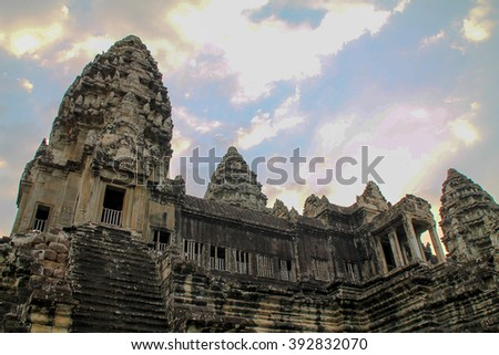 View from Angkor Wat, Siem Reap, Cambodia