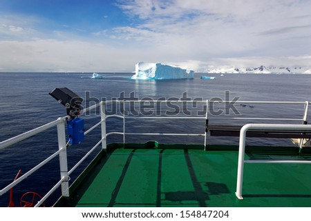 View from antarctic expedition vessel, Antarctica